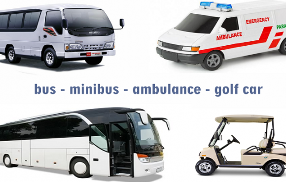 AKI BUS – MOBIL GOLF – AMBULANCE